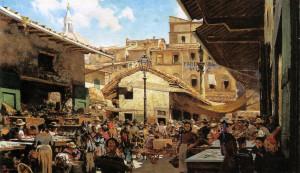 Telemaco_Signorini,_Mercato_Vecchio_a_Firenze_1882-83_39x65,5_cm